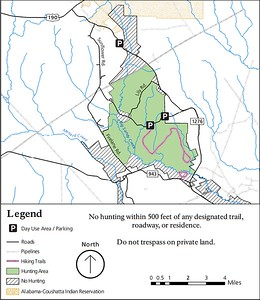 Big Thicket National Preserve (Hunting Areas - Sandy Creek Unit)