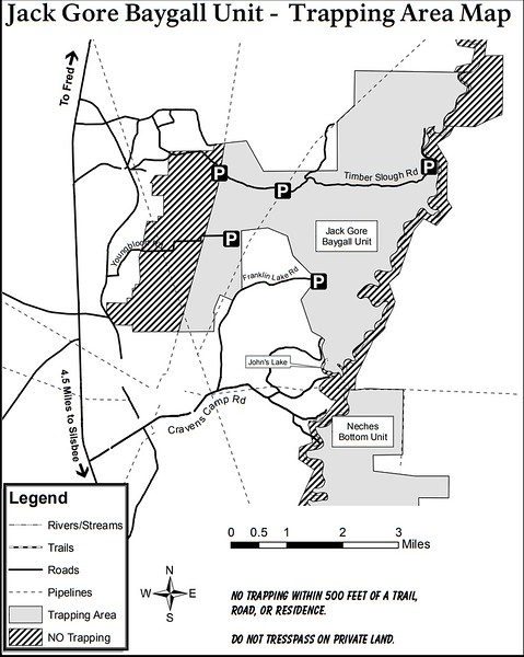 Big Thicket National Preserve (Trapping Areas - Big Thicket Unit)