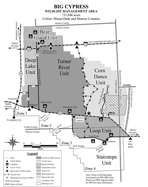 Big Cypress National Preserve (Management Units Map)