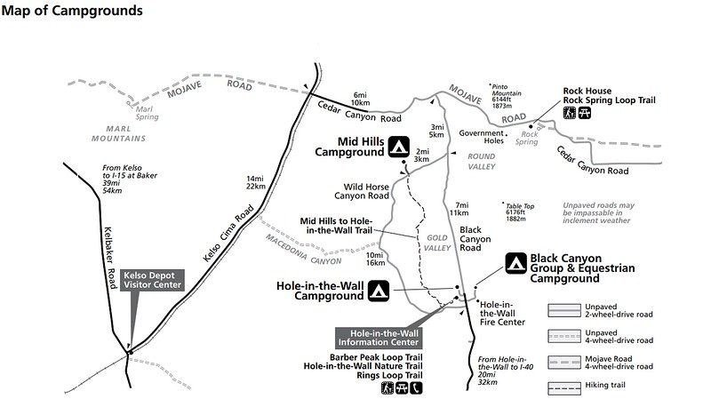 Mojave National Preserve (Campground Maps)