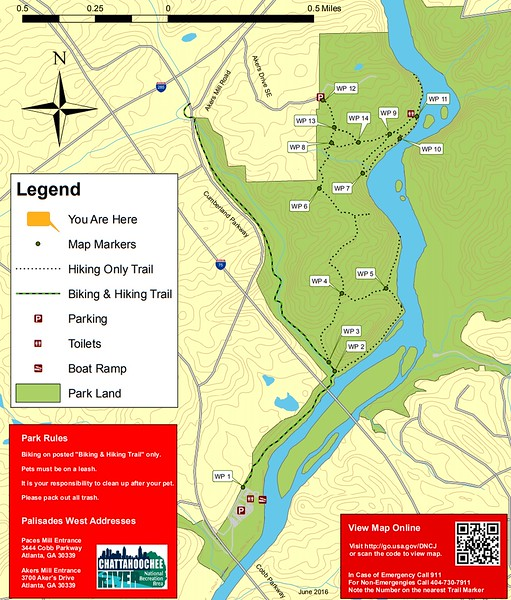 Chattahoochee River National Recreation Area (Palisades-West Area Trails)