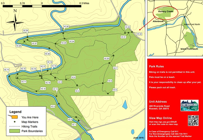 Chattahoochee River National Recreation Area (Vickery Creek Area Trails)