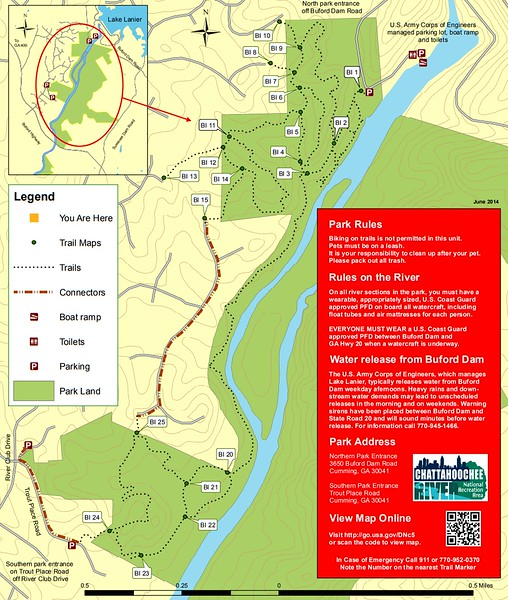 Chattahoochee River National Recreation Area (Bowman's Island Area Trails)