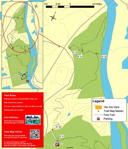 Chattahoochee River National Recreation Area (Island Ford North Area Trails)