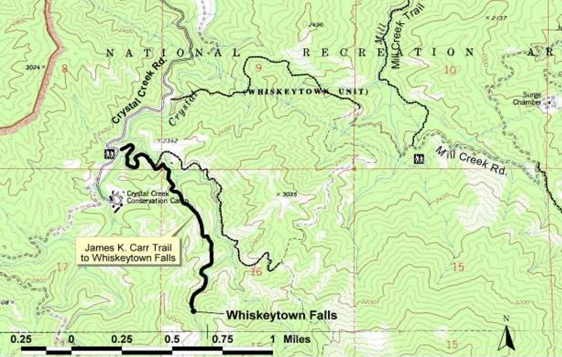 Whiskeytown National Recreation Area (James K. Carr Trail/Whiskeytown Falls)