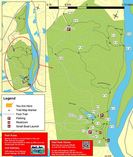 Chattahoochee River National Recreation Area (Island Ford South Area Trails)