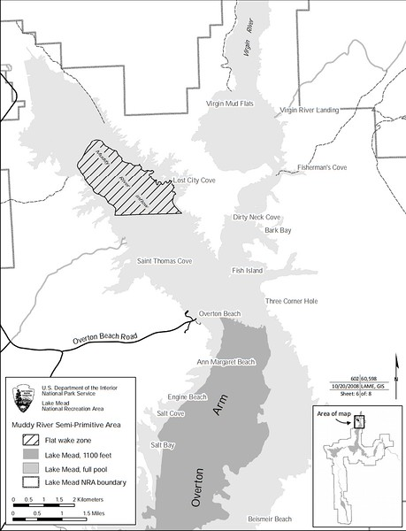 Lake Mead National Recreation Area (Muddy River Boating Restriction Map)