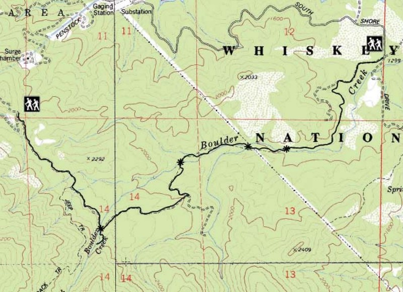 Whiskeytown National Recreation Area (Boulder Creek Falls Trail)