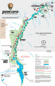 Bighorn Canyon National Recreation Area (Boating Map)