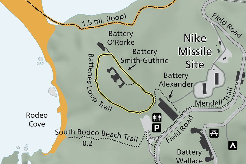 Golden Gate National Recreation Area (Batteries Loop Trail)