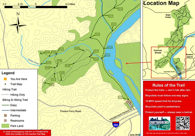 Chattahoochee River National Recreation Area (Cochran Shoals/Interstate North Area Trails)
