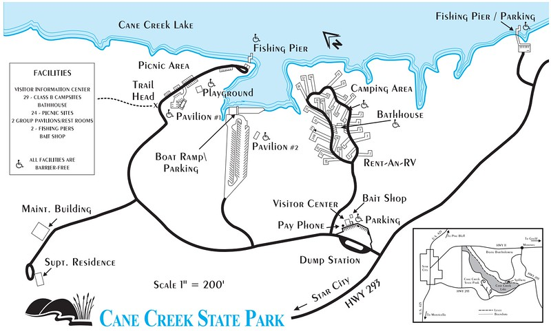 Devils Den Arkansas Map.Arkansas State Park Maps Dwhike
