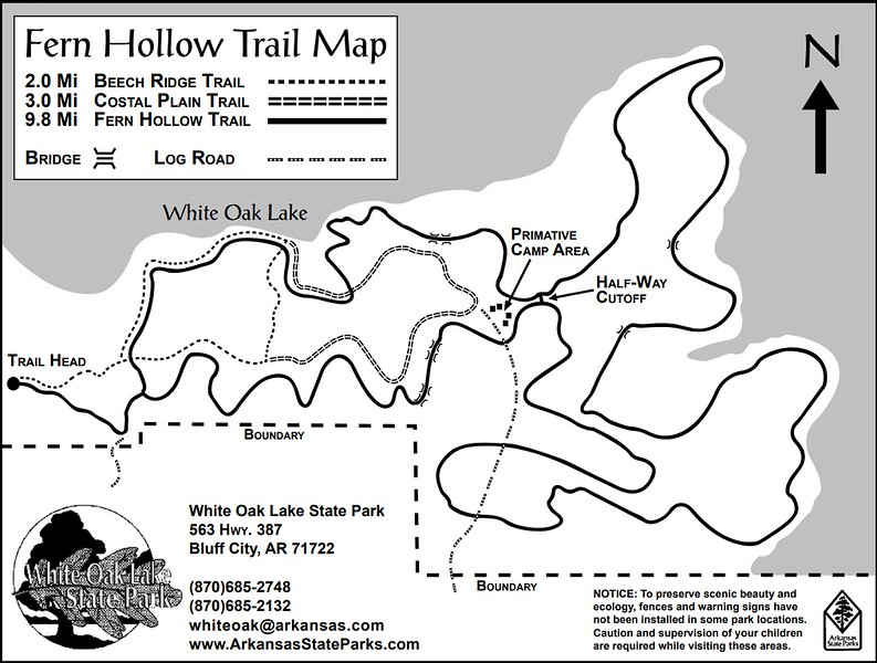 White Oak Lake State Park (Fern Hollow Trail)