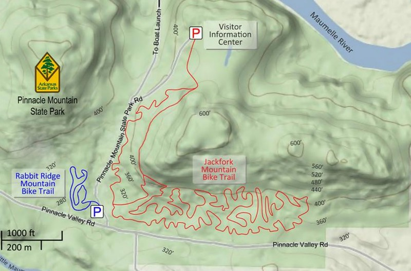 Pinnacle Mountain State Park (Bike Trails)