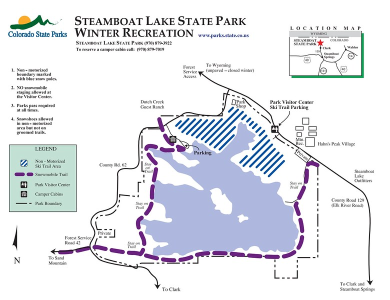 Steamboat Lake State Park (Winter Recreation Map)