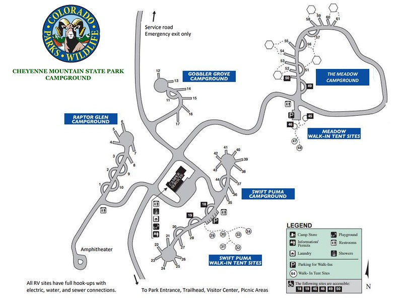 Cheyenne Mountain State Park (Campgrounds Map)