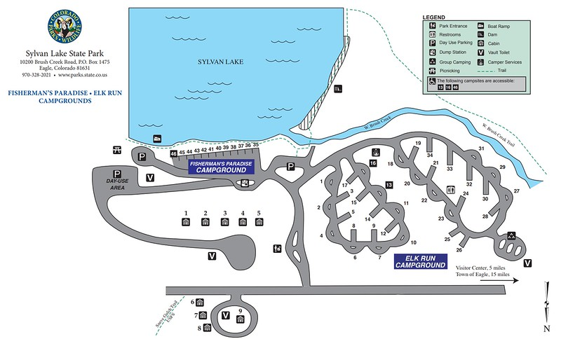 Sylvan Lake State Park (Campgrounds Map)