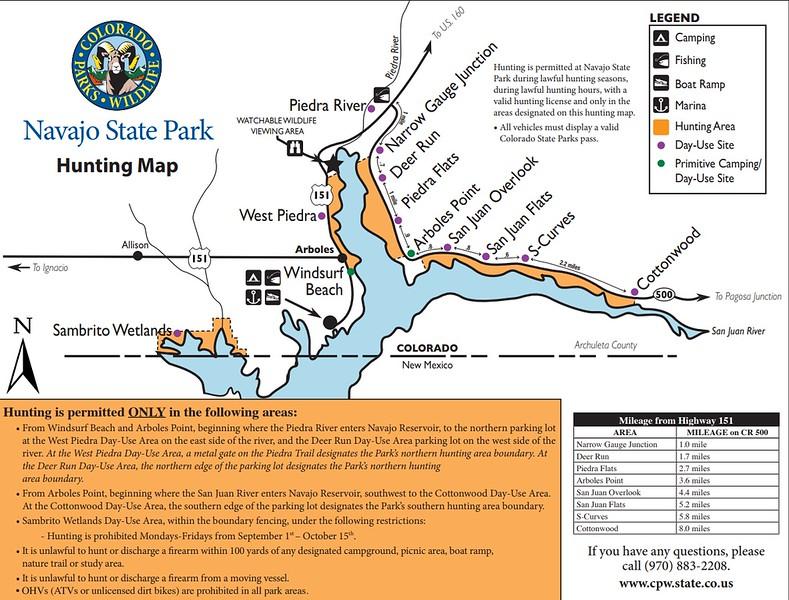 Navajo State Park (Hunting Map)