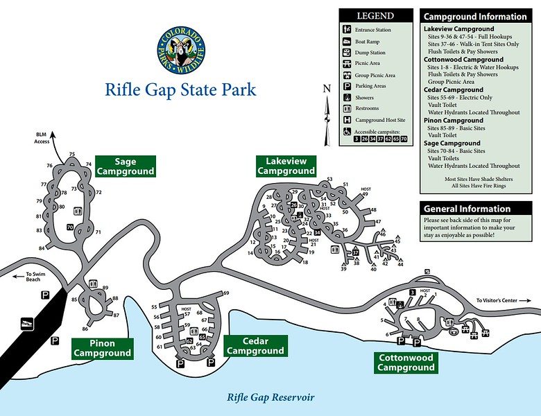 Rifle Gap State Park (Campgrounds Map)