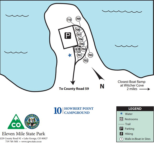 Eleven Mile State Park (Howbert Point Campground)