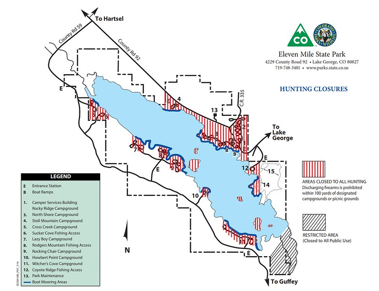 Eleven Mile State Park (Hunting Closure Areas)