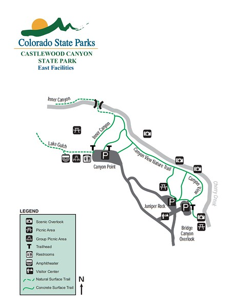 Castlewood Canyon State Park (East Facilities Map)