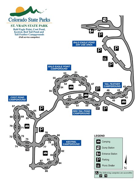 St. Vrain State Park (Full Service Campgrounds Map)