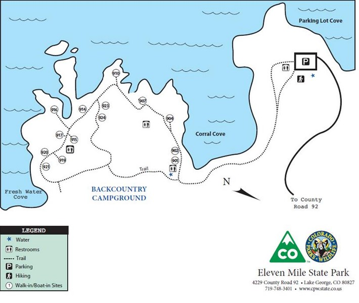 Eleven Mile State Park (Backcountry Campground)