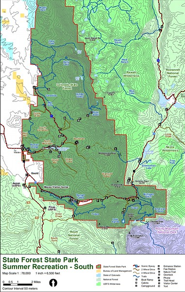 State Forest State Park (Summer Recreation Map - South)