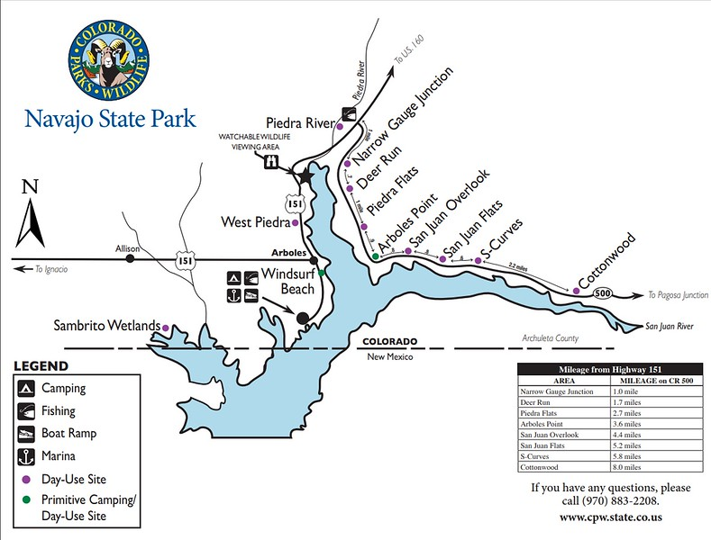 Navajo State Park (Outlying Area Map)