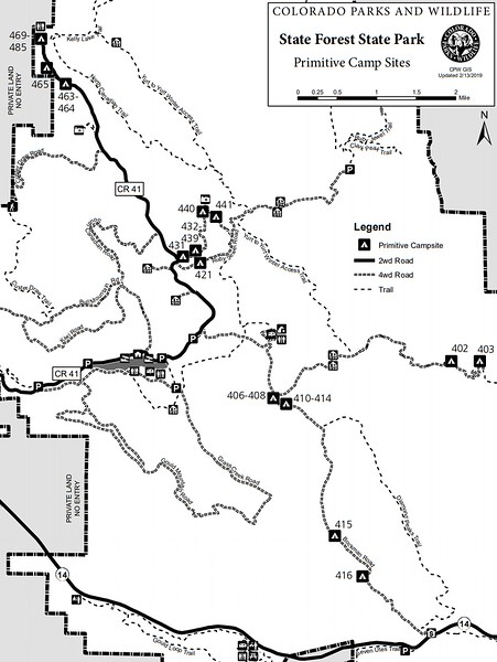 State Forest State Park (Primitive Camp Sites Map)