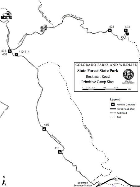 State Forest State Park (Primitive Camp Sites - Bockman Road Area)