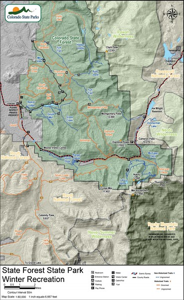 State Forest State Park (Winter Recreation Map)