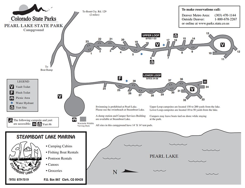 Pearl Lake State Park (Campground Map)