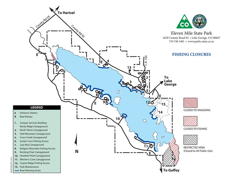 Eleven Mile State Park (Fishing Closure Areas)
