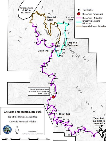 Cheyenne Mountain State Park (Dixon Area Trails)