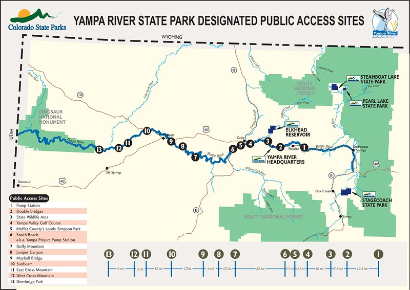 Yampa River State Park (Public Access Sites Map)