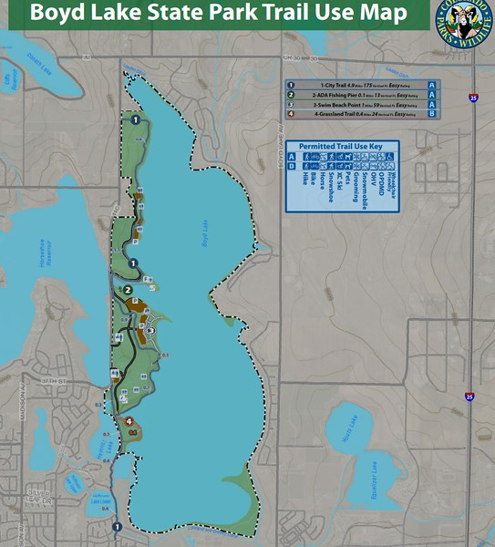 Boyd Lake State Park (Trail Map)