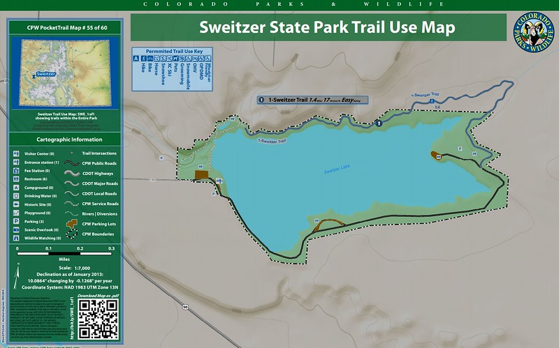 Sweitzer Lake State Park (Trail Map)