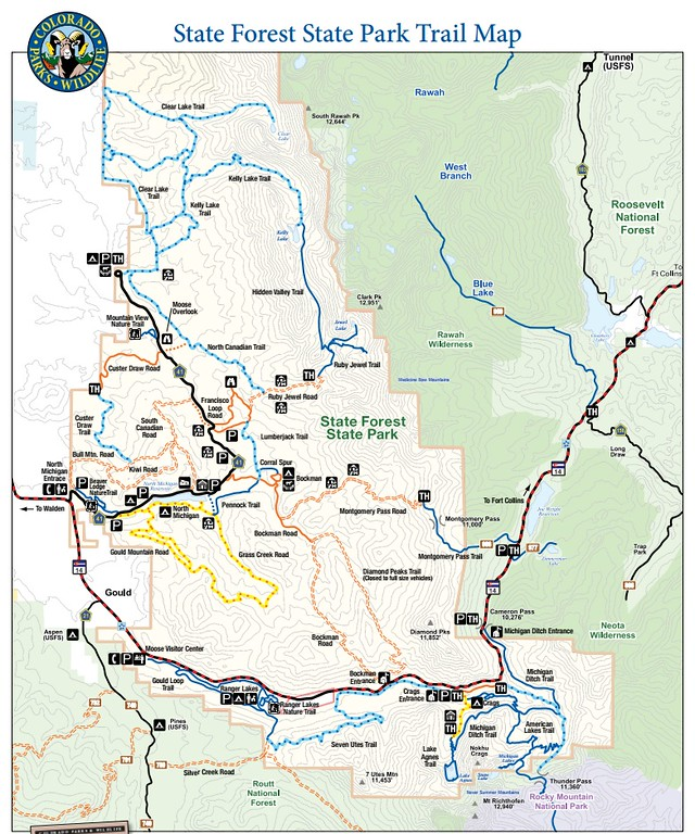 Colorado State Park Maps Dwhike - State of colorado map