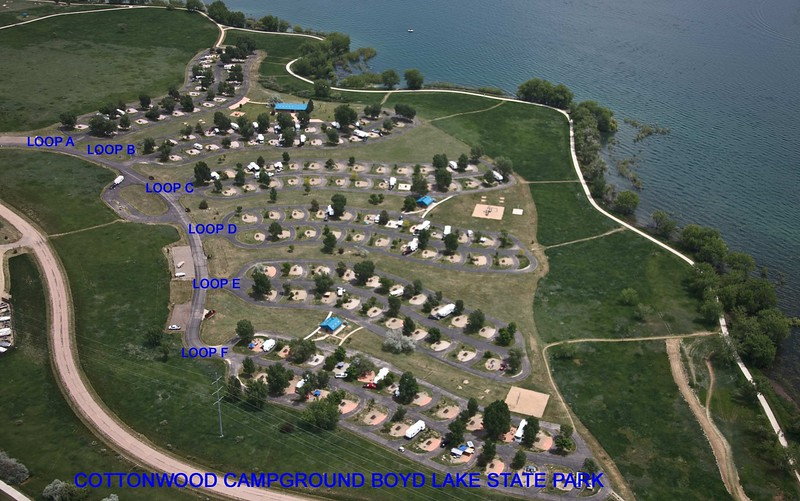 Boyd Lake State Park (Cottonwood Campground Aerial)