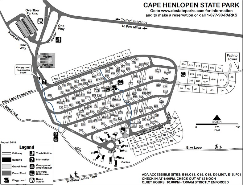 Cape Henlopen State Park (Campground Map)
