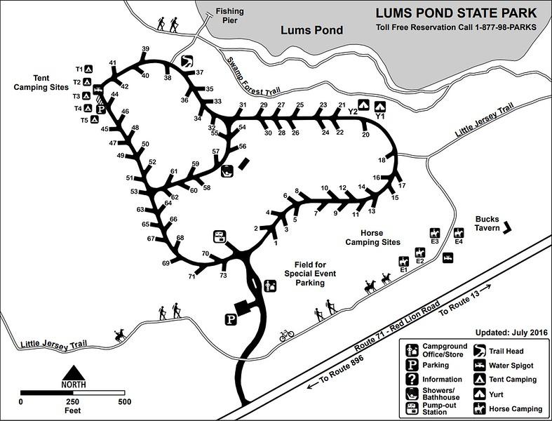 Lum's Pond State Park (Campground Map)