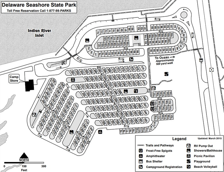 Delaware Seashore State Park (Campground Map)