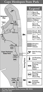 Cape Henlopen State Park (Fishing Areas Map)