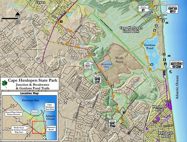 Cape Henlopen State Park (Junction, Breakwater, & Gordons Pond Trails)