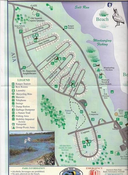 Anastasia State Park (Campground Map)