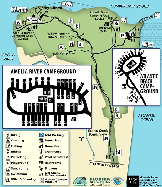 Fort Clinch State Park (Campgrounds Map)