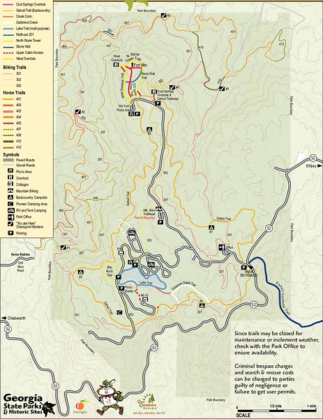 Fort Mountain State Park (Trail Map)