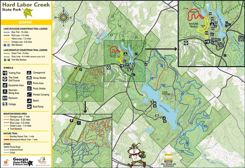 Hard Labor Creek State Park (Trail Map)